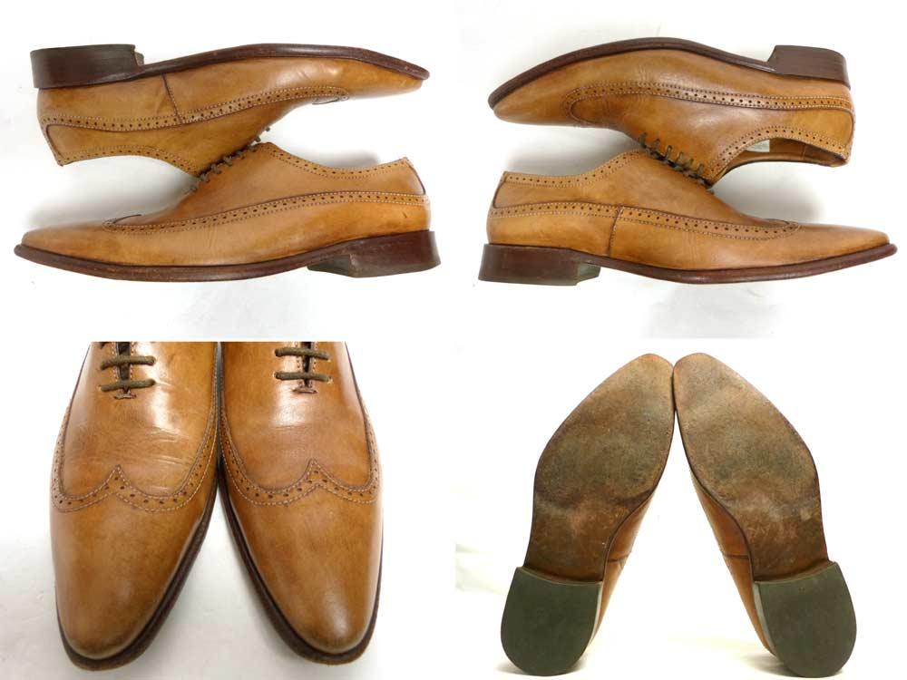 アルゼンチン製 Frenkel's Leather World ウイングチップシューズ (25-25.5cm相当)(メンズ)【中古】