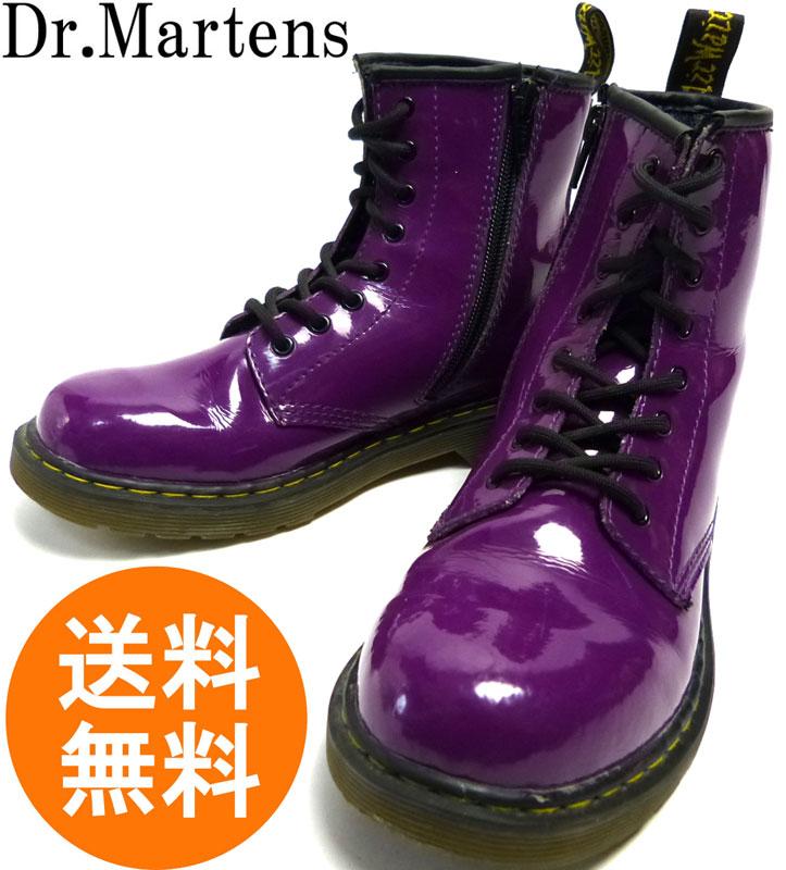 ドクターマーチン Dr.Martens 8ホール エナメルブーツ UK3(22cm相当)(レディース) 【中古】