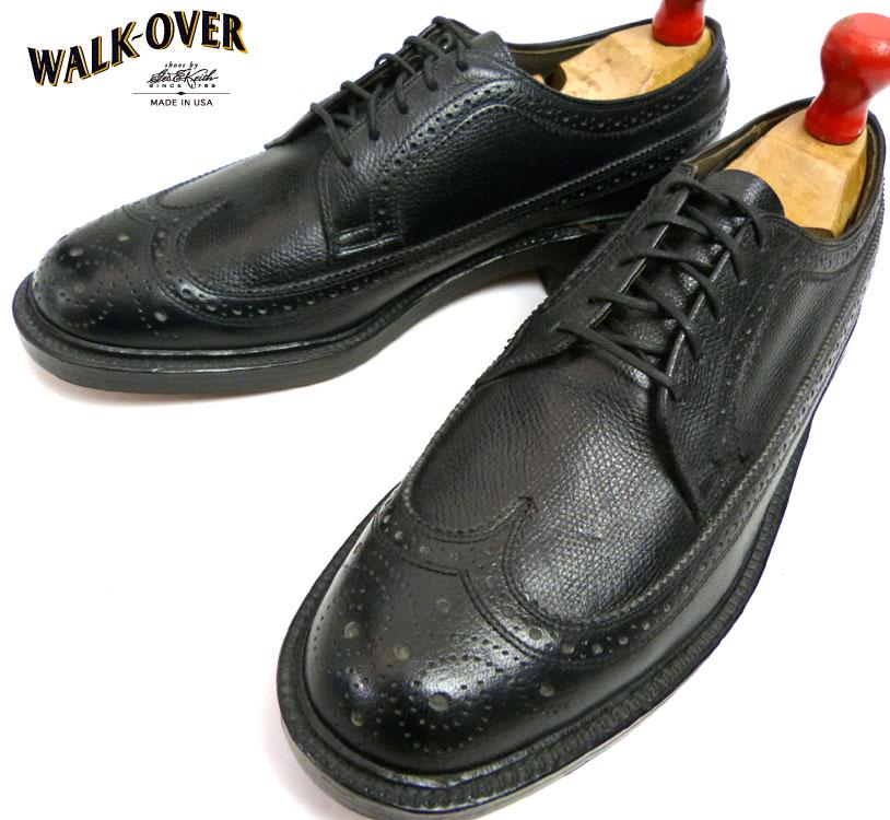 【未使用】1980s WALK OVER ウォークオーバー ウイングチップシューズ390 (27cm相当) (メンズ)(デッドストック)【中古】【送料無料】