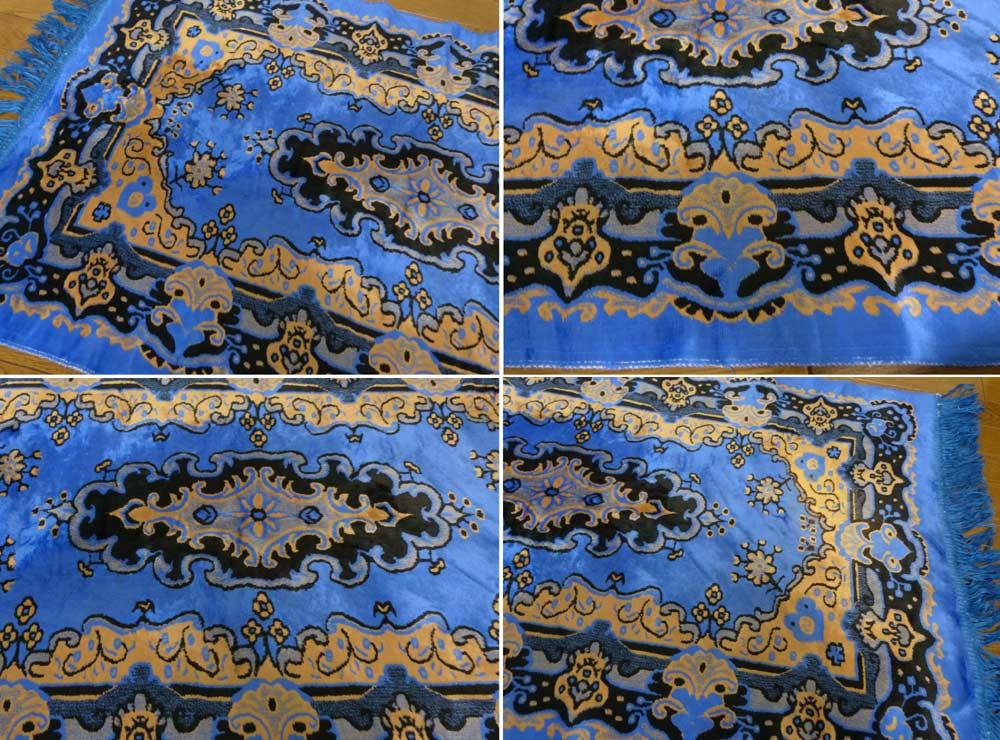 104×61cm ベルベット  メキシカンラグマット / カーペット / 絨毯【中古】