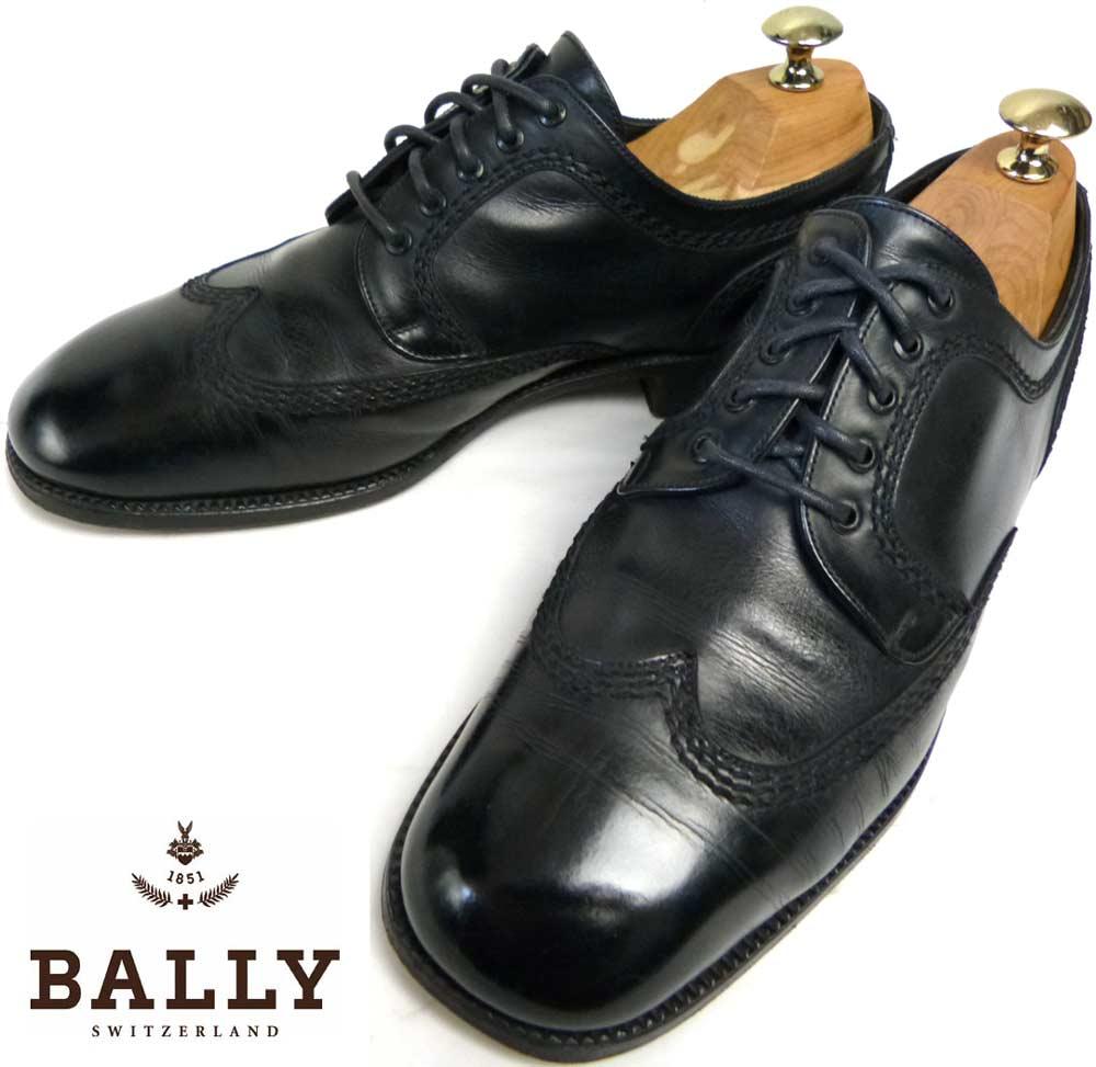 バリー BALLY ウイングチップ レザーシューズ 6D(25cm相当)(メンズ)【中古】