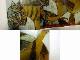 パブロ・ピカソ「鳥をくらう猫」 ポスター / 印刷物  2トーンフレーム/額装【中古】