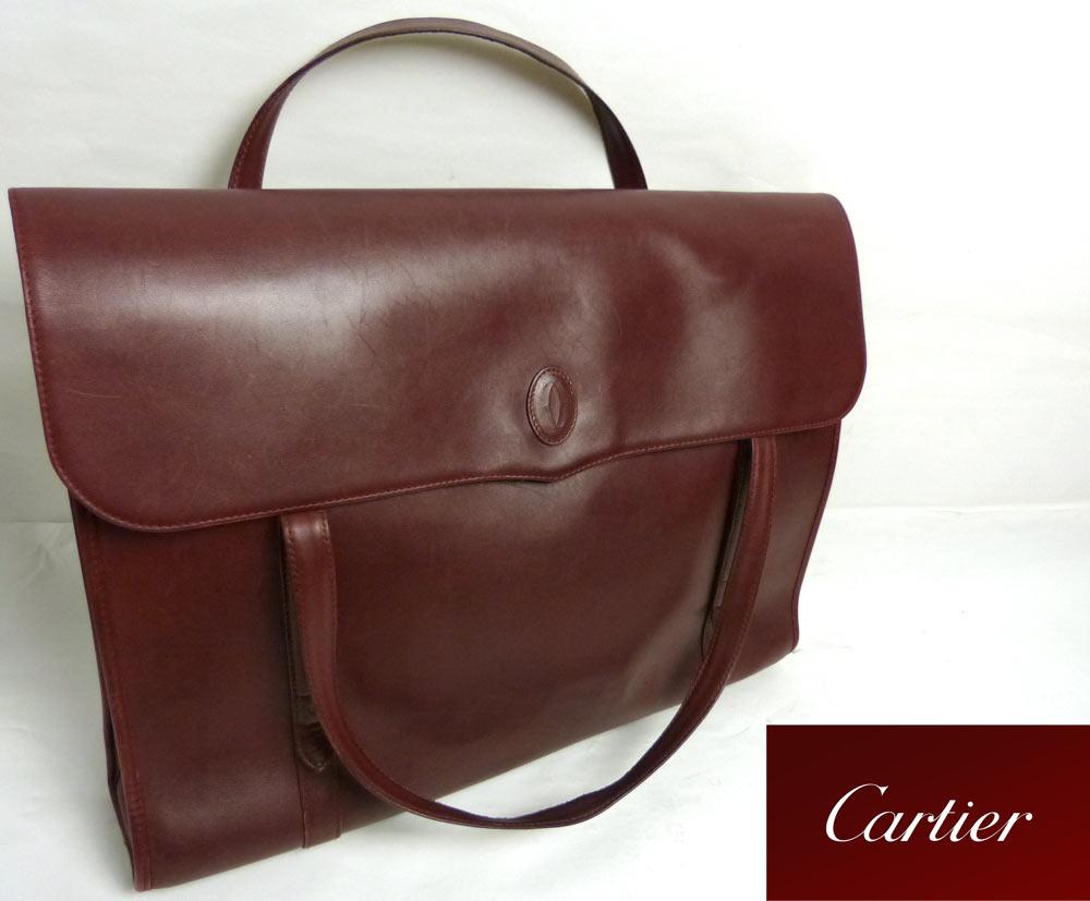 Must de Cartierカルティエ スクエアトートバッグ / ショルダーバッグ 【中古】【送料無料】