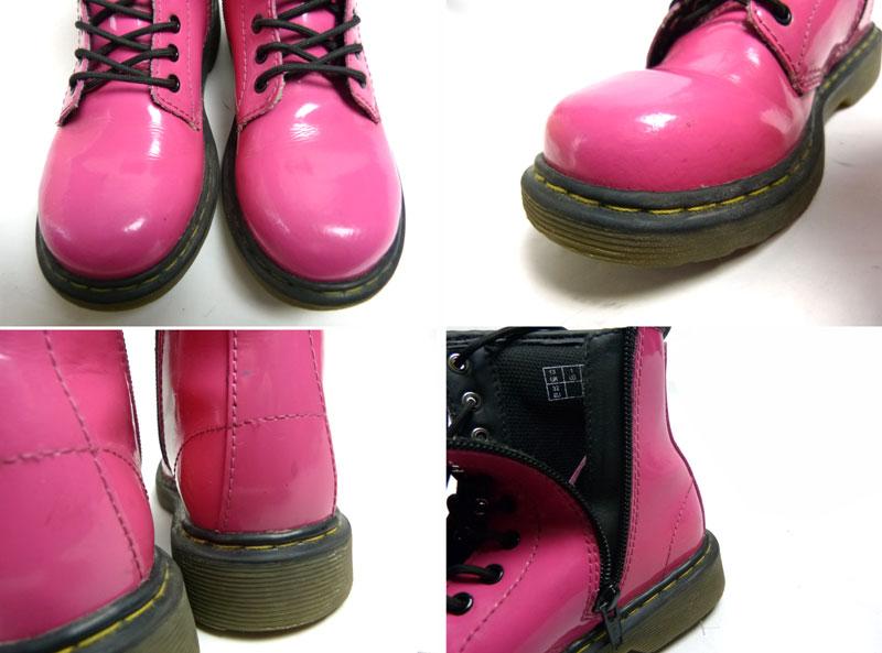 キッズ用 Dr.Martens ドクターマーチン ブーツ UK13(21cm相当)(ピンク)【中古】