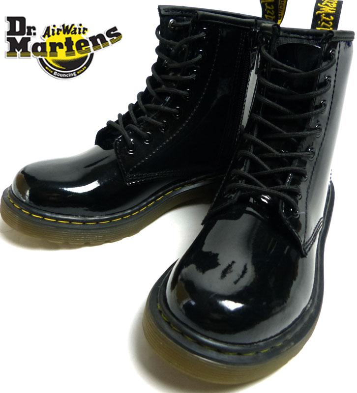 キッズ用 Dr.Martens ドクターマーチン ブーツ UK13(21cm相当)(黒/ブラック)【中古】