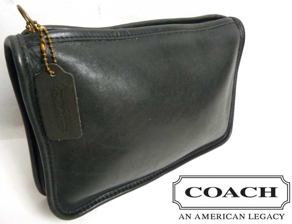 USA製 オールドコーチ OLD COACH レザークラッチバッグ / セカンドバッグ ポーチ 【中古】