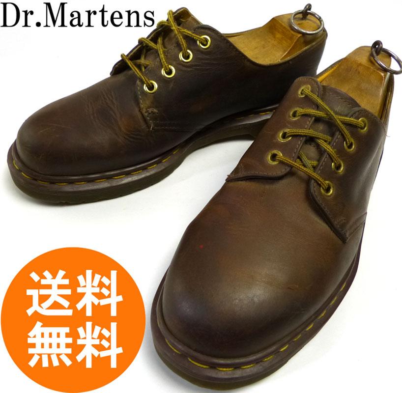 ドクターマーチン Dr.Martens イングランド(英国)製 4ホール レザーシューズ UK9(27.5cm相当) 【中古】