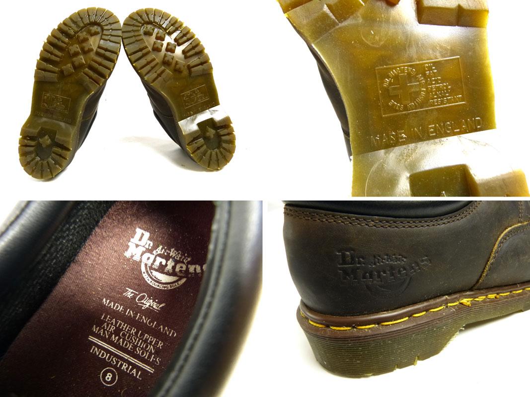 ドクターマーチン Dr.Martens 英国製 4ホールシューズ UK8(26.5cm相当)(メンズ)(茶 ブラウン)【中古】