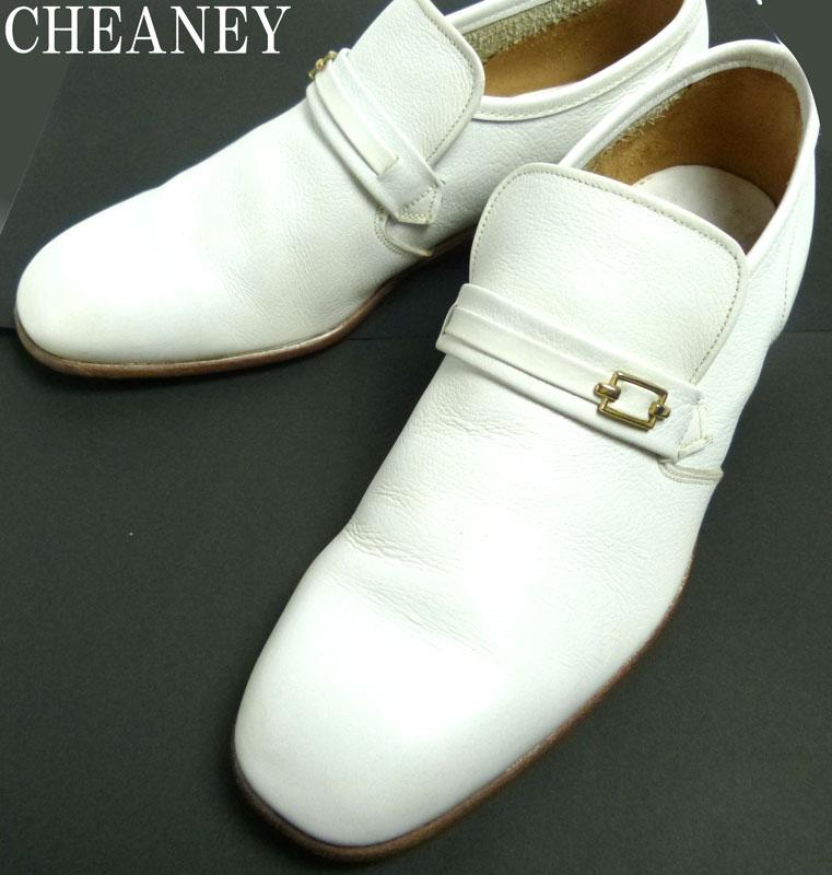 【希少】CHEANEY チーニー レザー ローファー UK6(24.5cm相当)(白/ホワイト)【中古】