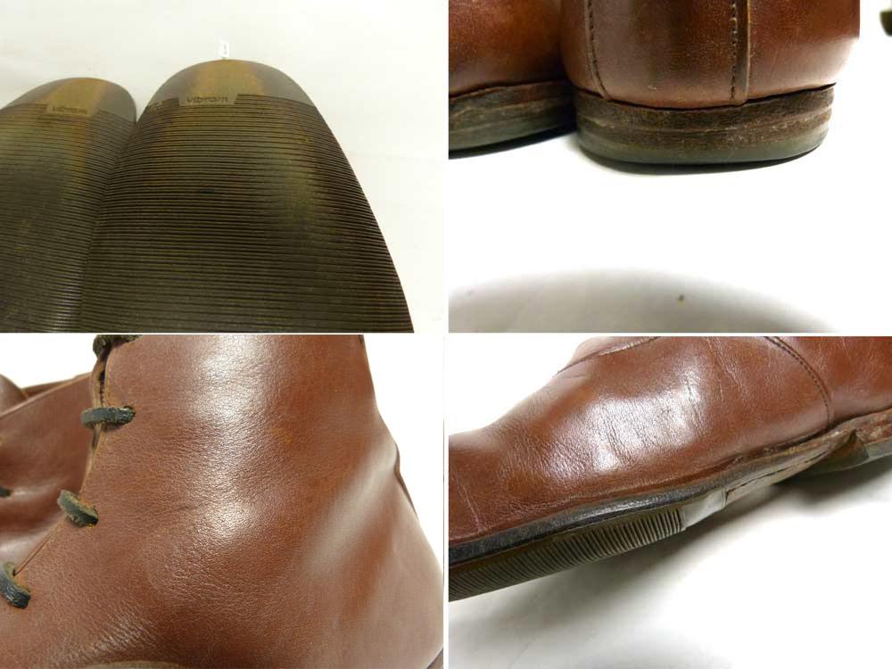 【希少】スコットランド製 PAUL HARNDEN ポールハーデン レザーレースアップショートブーツ 9(27.5-28cm相当)(メンズ)【中古】【送料無料】