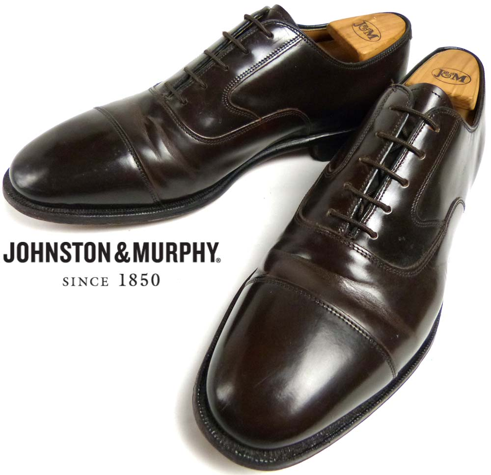 ジョンストン&マーフィー Johnston&Murphy キャップトゥシューズ 10 1/2D/B(27.5-28cm相当)(メンズ)【中古】