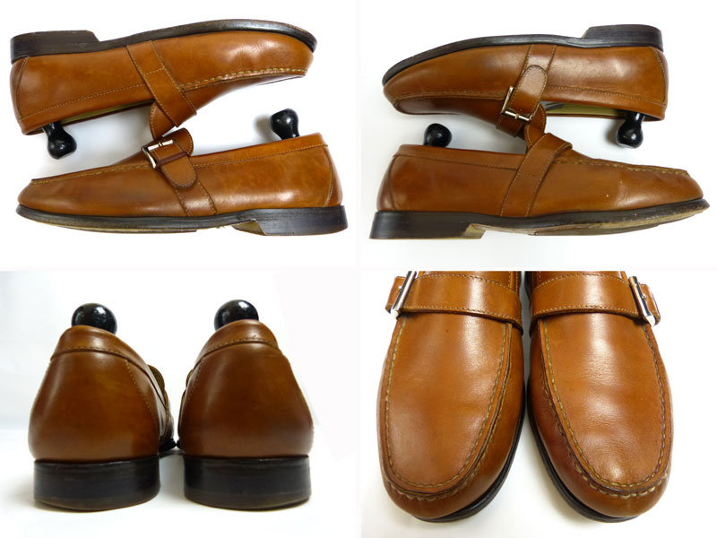 ジョンストン&マーフィー JOHNSTON & MURPHY モンクストラップシューズ  9.5M(27.5cm相当)(メンズ)(紳士靴)【中古】