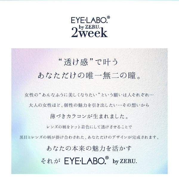アイラボ 2week by ZERU. (メール便送料無料) EYE LABO カラコン ツーウィーク