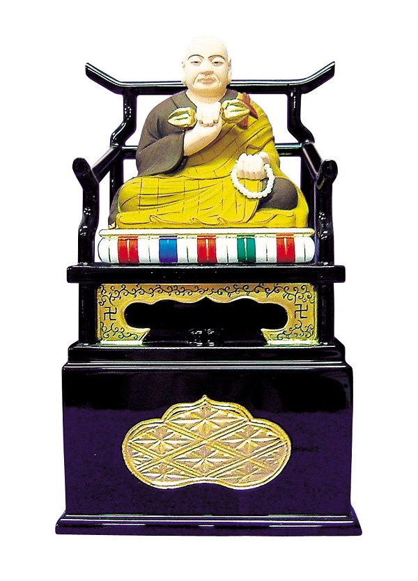 木製 弘法大師 極彩色 身丈1.5寸〜2.5寸