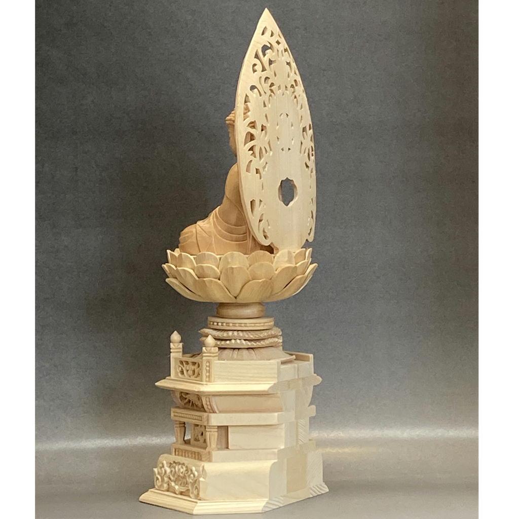 木製 釈迦如来 白木 身丈2.0寸〜3.0寸 木地