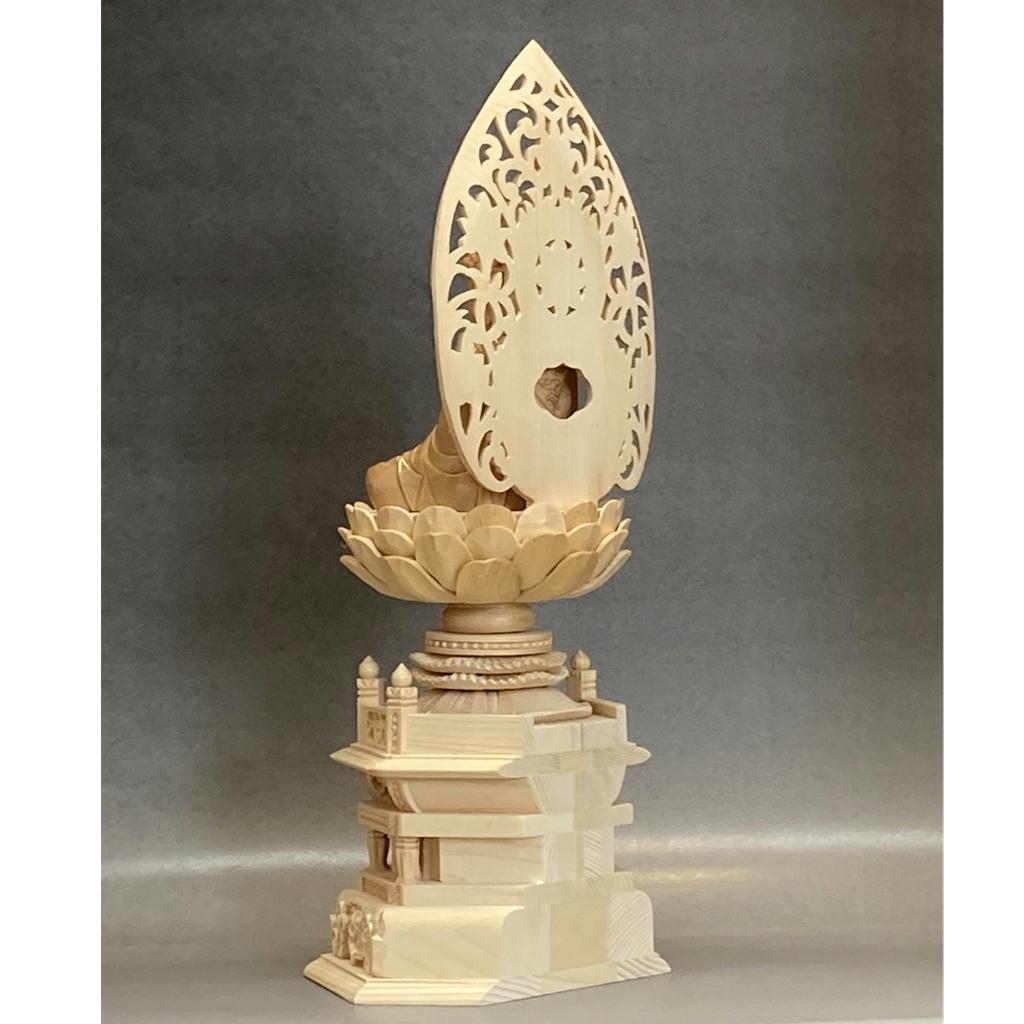 木製 阿弥陀如来 白木 身丈2.0寸〜3.0寸 金泥付