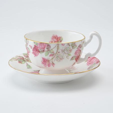 エリザベスローズ ピンク ティーカップ&ソーサー オーバン