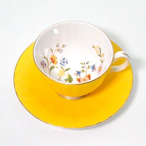 コテージガーデン ティーカップ&ソーサー オーバン イエロー