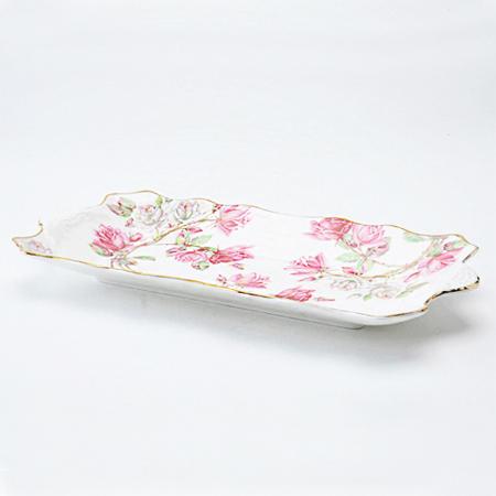 エリザベスローズ ピンク サンドイッチトレイ