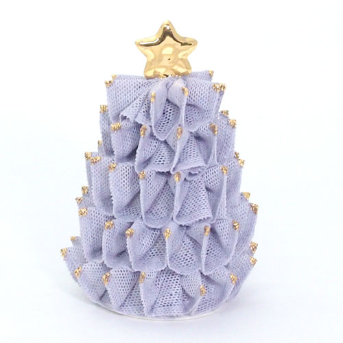 【限定1個】 アイリッシュドレスデン クリスマス ツリー ライラック