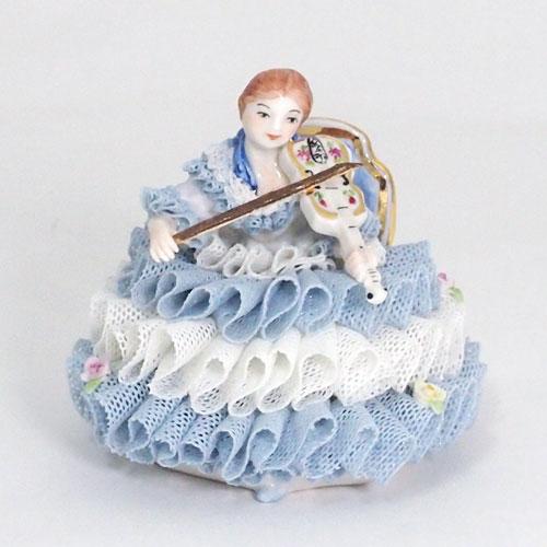 【限定1個】 アイリッシュドレスデン ジョセフィーヌ バイオリン ブルー