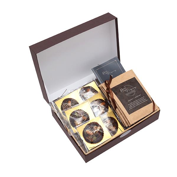ヒルズプレミアム マンディアンチョコレート&菊芋入り芽吹きコーヒー【ギフトボックス】