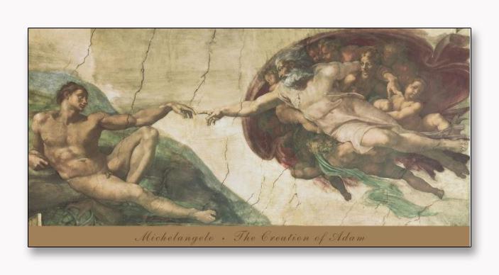 The Creation of Adam(ミケランジェロ ブオナローティ)