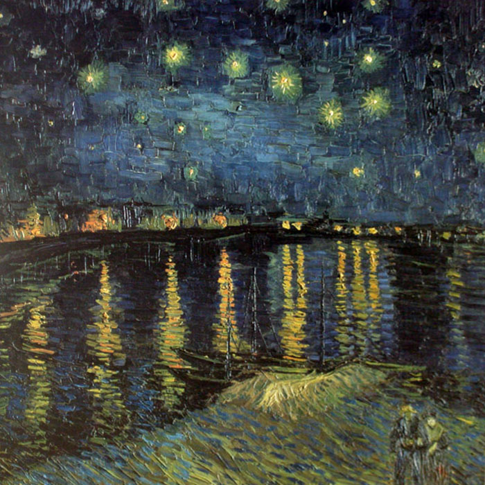 ローヌ川の星月夜 1888年(フィンセント ファン ゴッホ)