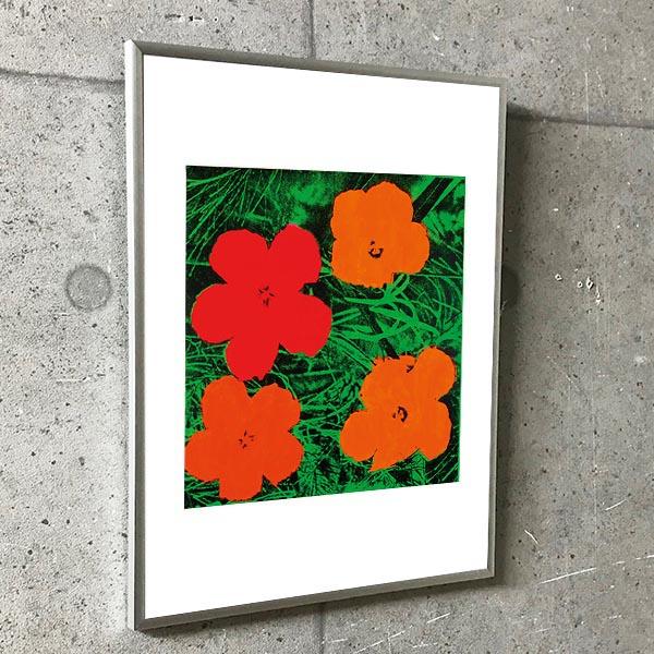 特別マット額装品/Flowers exhibition/ウォーホル(アンディ ウォーホル)