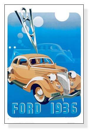 額装済30%OFF/フォード、1936/アーティスト不明/ポスター(アーティスト不明)