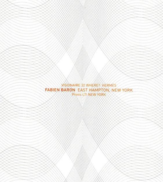 限定マット額装品/HERMES【エルメス】ファビアン・バロン/EAST HAMPTON VISIONAIRE 32