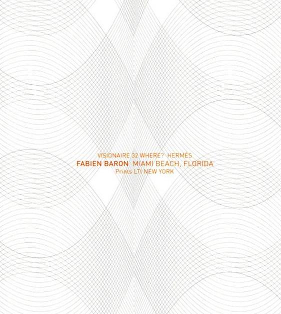 限定マット額装品/HERMES【エルメス】ファビアン・バロン/MIAMI BEACH VISIONAIRE 32