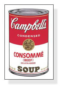 Campbell Soup I Consomme 1968(アンディ ウォーホル)