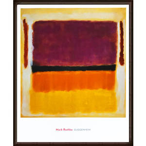 Untitled (Violet Black Orange Yellow on White and Red) 1949(マーク ロスコ)【f】