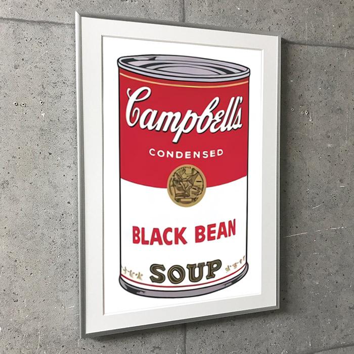 Campbell Soup I Black Bean 1968(アンディ ウォーホル)