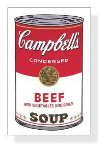 特別額装マット作品/アートポスター/Campbell s Soup I Beef 1968(アンディ ウォーホル)