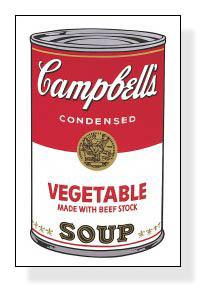特別額装マット作品/アートポスター/Campbell Soup I Vegetable 1968(アンディ ウォーホル)