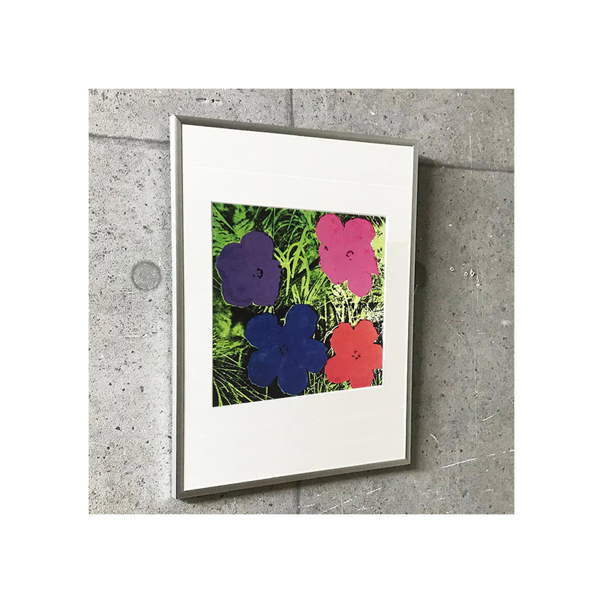 特別額装マット作品/アートポスター/フラワーズ 1964(アンディ ウォーホル)