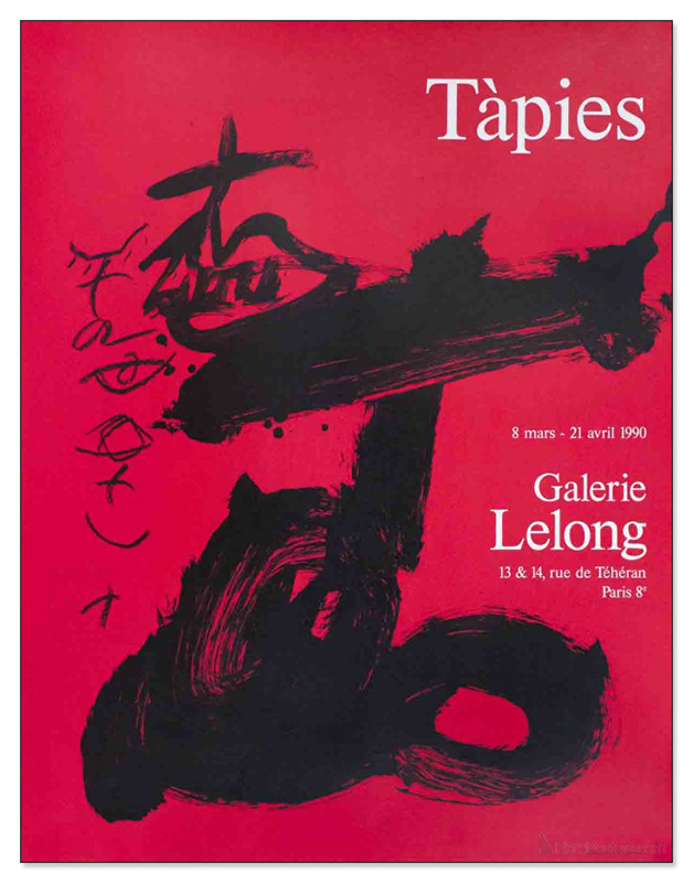 Black and Red Galerie Lelong 1990(アントニ タピエス)