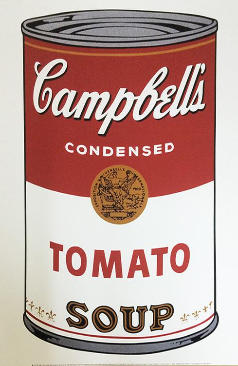 キャンベルスープ缶 I(Tomato) 1968(アンディ ウォーホル)