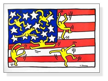 Untitled (Flag) (md) 1997(キース へリング)