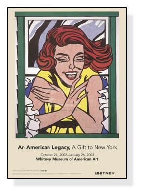 窓辺の少女(ワールド・フェアの壁画のための習作) 1963年(ロイ リキテンスタイン)【f】
