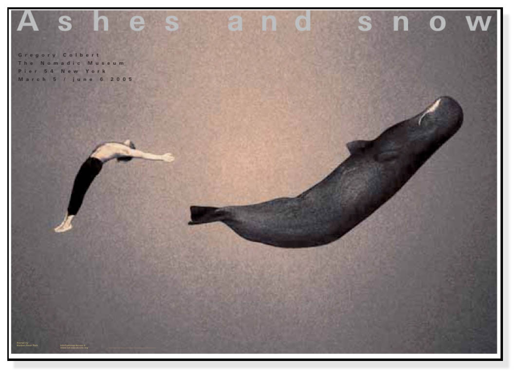 Ashes and snow ニューヨーク 2005年 Gregory Colbert with Whale(グレゴリー コルベール)【f】