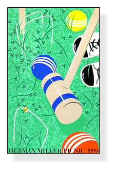 Croquet サマーピクニック 1999年 Kathy Stanton(ハーマンミラー)【f】