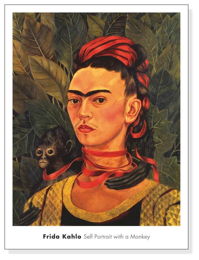 Self Portrait with a Monkey、 1940(フリーダ カーロ)【f】