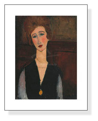 Portrait of a Woman c.1917-1918(アメデオ モディリアーニ)【f】