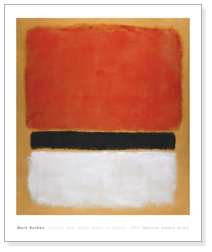 Untitled (Red Black White on Yellow) 1955(マーク ロスコ)【f】