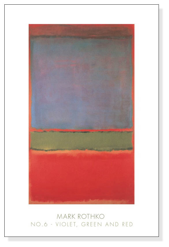 No.6(Violet Green and Red)1951(マーク ロスコ)【f】