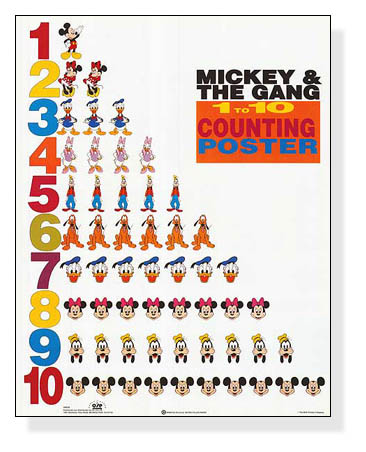 Mickey & Friends 1 to 10 Counting(ディズニー)【f】