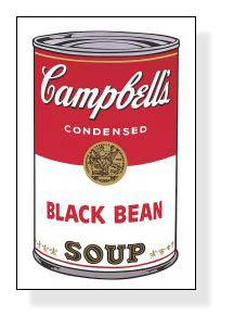 特別額装マット作品/アートポスター/Campbell Soup I Black Bean 1968(アンディ ウォーホル)